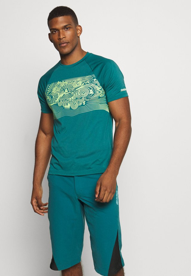 MAORITZ TEE MENS - Printtipaita - pacific/sharp green