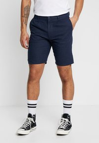 Only & Sons - ONSLOU LINEN MIX  SHORTS GW 3000 - Shorts - dress blues - 0