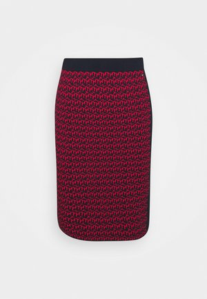 CUBE MIDI PENCIL SKIRT - Pencil skirt - desert sky/primary red
