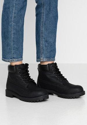 LACE BOOT - Snørestøvletter - black