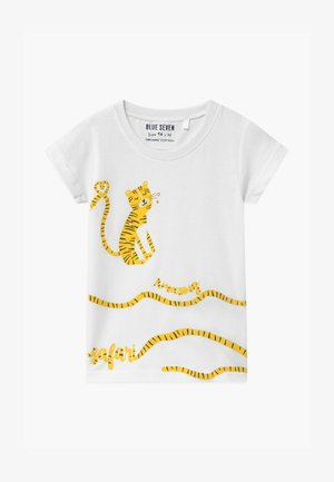 SMALL GIRLS TIGER - T-shirt z nadrukiem - white