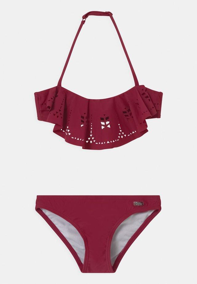 BANDEAU SET - Bikini - bordeaux