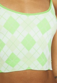 Out From Under for Urban Outfitters - MARKIE CAMI AND G-STRING SET - Steznik - green argyle - 6