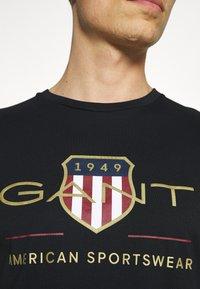 GANT - ARCHIVE SHIELD - T-shirt med print - black - 3