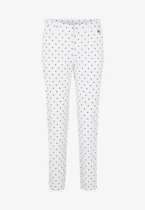 Spodnie materiałowe - polka dot white navy