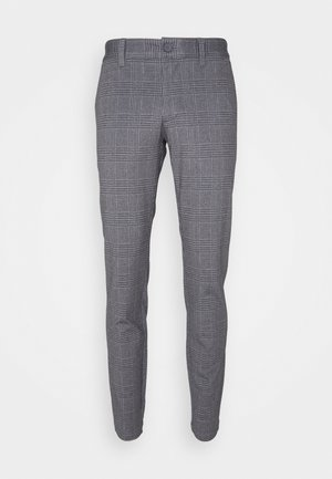 ONSMARK TAP PANT CHECK - Trousers - black