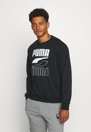 REBEL CREW  - Sweatshirts - puma black