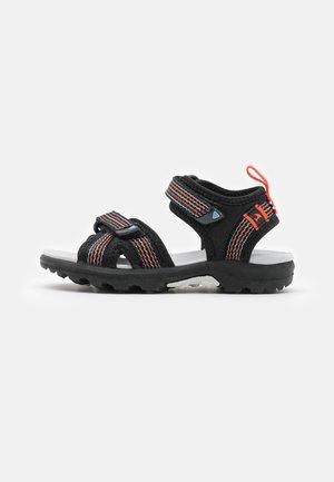 LOPPA UNISEX - Walking sandals - black/dark grey