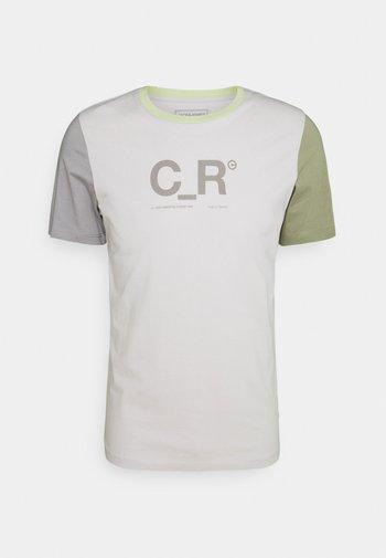 JCOFLASK TEE CREW NECK - T-shirt z nadrukiem - glacier gray