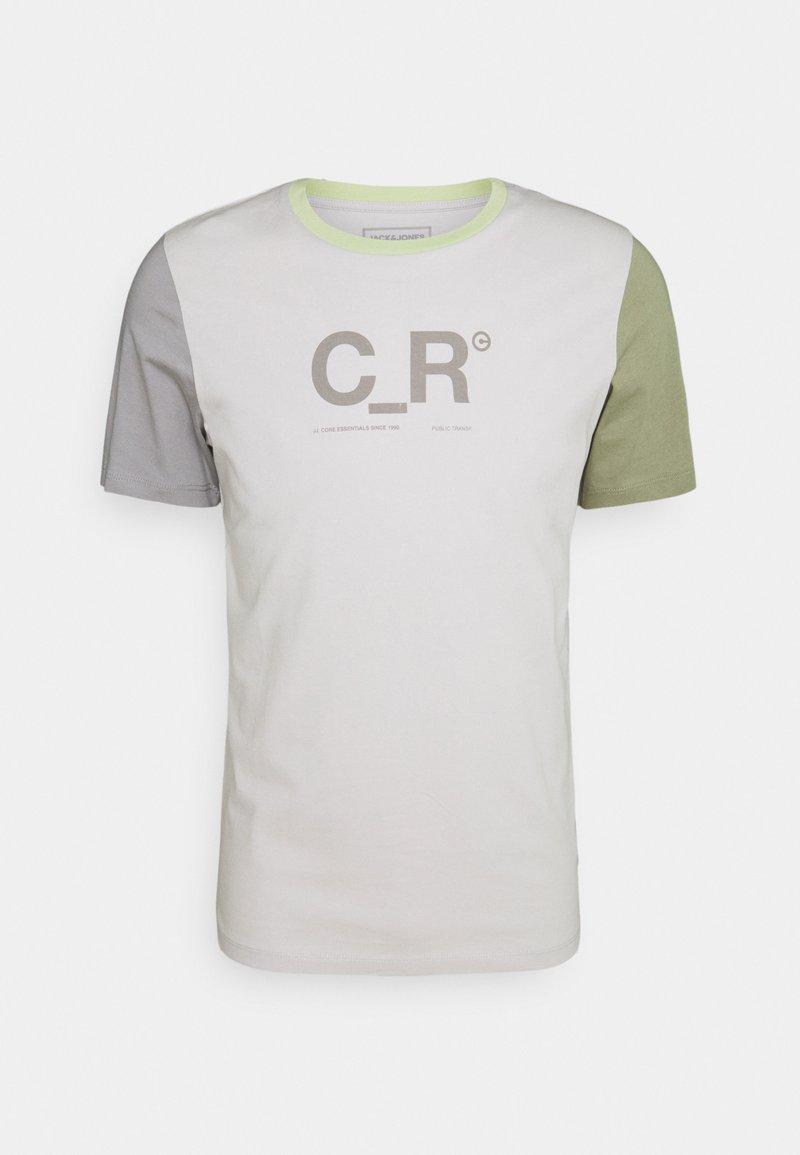 Jack & Jones - JCOFLASK TEE CREW NECK - Print T-shirt - glacier gray