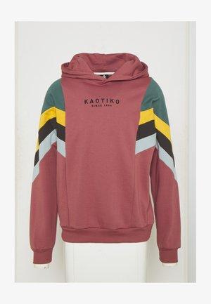CAP EWAN - Sweatshirt - burgundy/heura/mostaza/grey