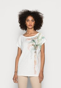 Esprit - BOAT NECK - Print T-shirt - off white - 0