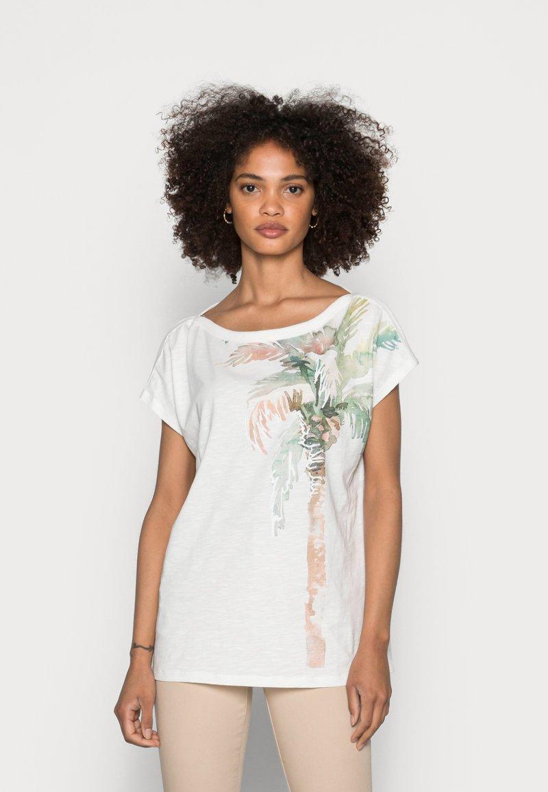 Esprit - BOAT NECK - Print T-shirt - off white