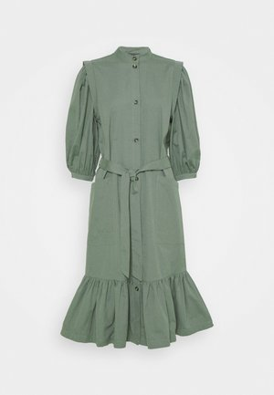 BASIL GALLIANA DRESS - Abito a camicia - moss