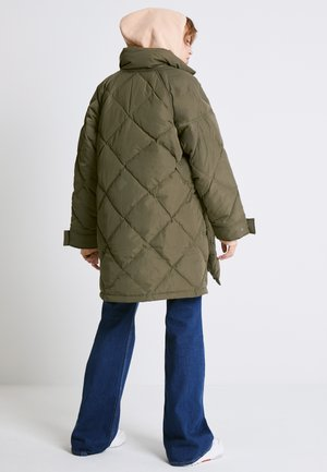 DIAMOND QUILT PUFFER - Down coat - olive night