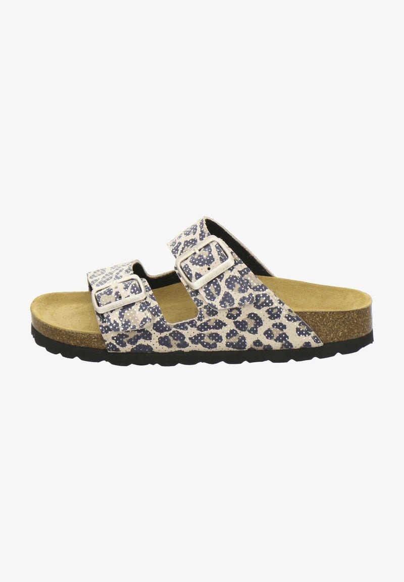 AFS Schuhe - ZWEISCHNALLER - Slippers - natur leo