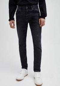 PULL&BEAR - Jeans slim fit - black denim - 0