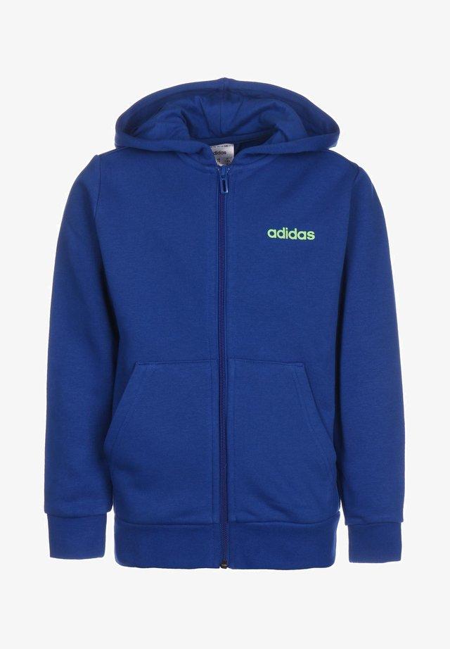 ESSENTIALS - Zip-up hoodie - royal blue / signal green