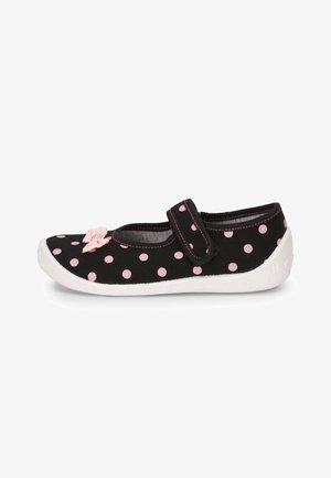 Ankle strap ballet pumps - black/bow