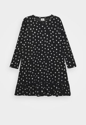 DOT DREAMINA LONG - Gebreide jurk - black/ecru