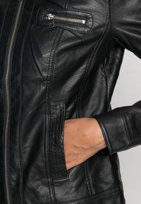 ONLY - ONLBANDIT BIKER - Faux leather jacket - black - 4