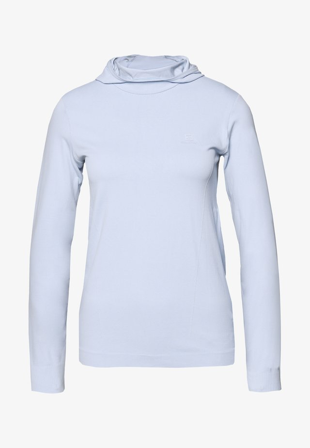 COMET SEAMLESS HOODIE - T-shirt à manches longues - kentucky blue/artic ice