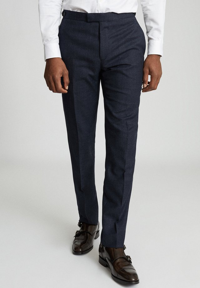 DUNN - Suit trousers - navy blue