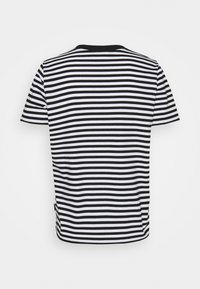 Calvin Klein - SMALL STRIPE C NECK - Print T-shirt - black/bright white - 1