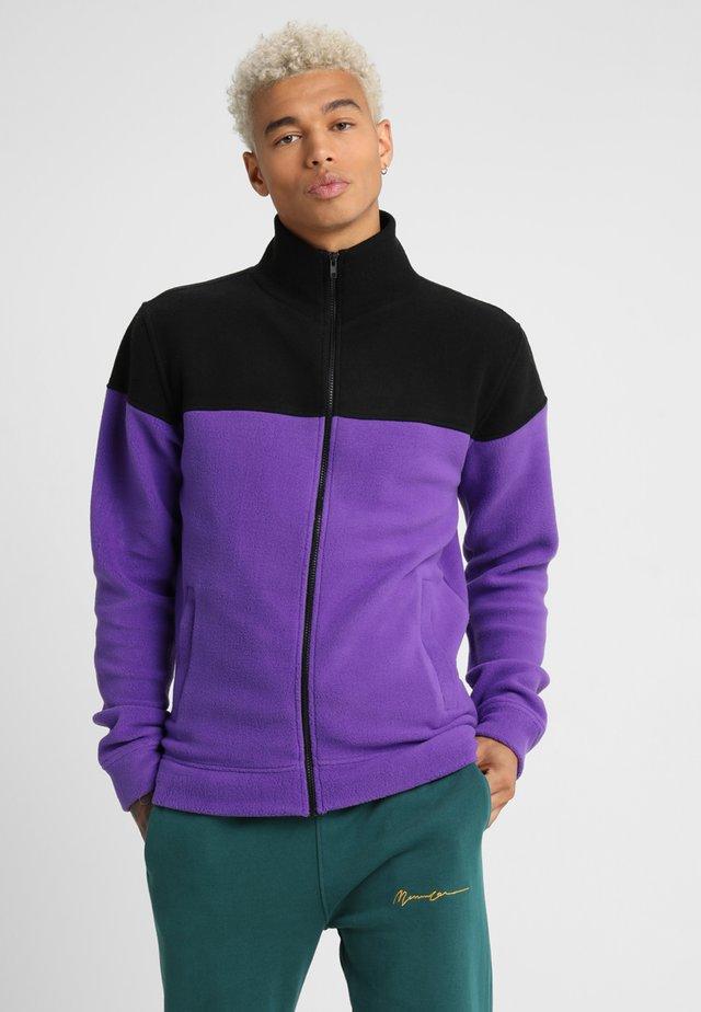 TONE POLAR JACKET - Zip-up hoodie - ultraviolet/black