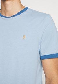Farah - GROVES RINGER TEE - Print T-shirt - ocean blue - 5
