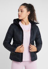 Under Armour - HOODED - Down jacket - black/jet gray - 0