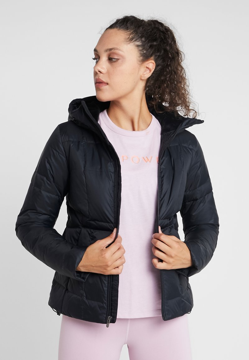 Under Armour - HOODED - Down jacket - black/jet gray