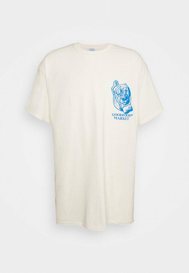 GROCERIES GRAPHIC - T-shirt print - beige