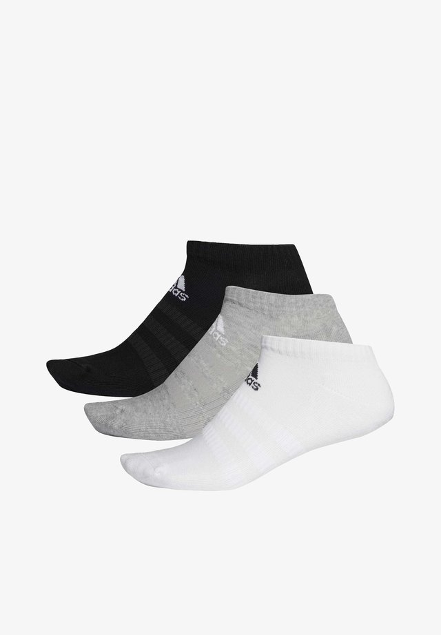 3 STRIPES CUSHIONED NO SHOW 3 PAIR PACK - Sports socks - grey