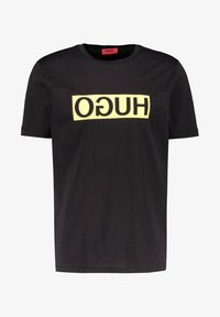 HUGO - DICAGOLINO - Print T-shirt - black - 0