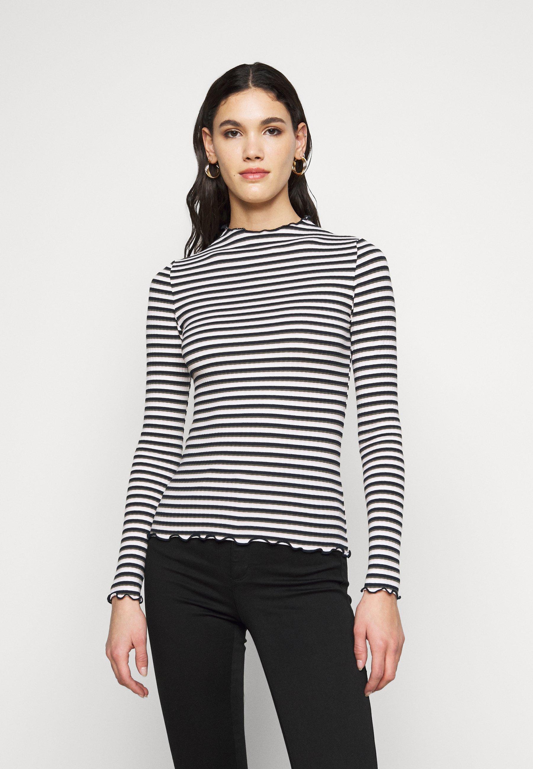 Women ONLEMMA HIGH NECK STRIPE - Long sleeved top