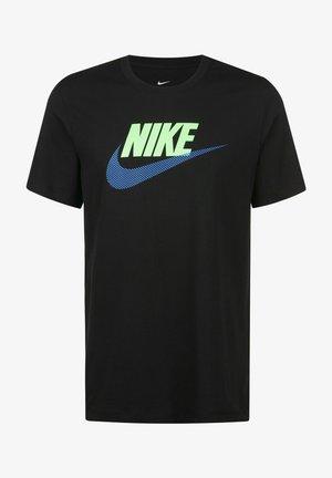 Camiseta estampada - black / light photo blue
