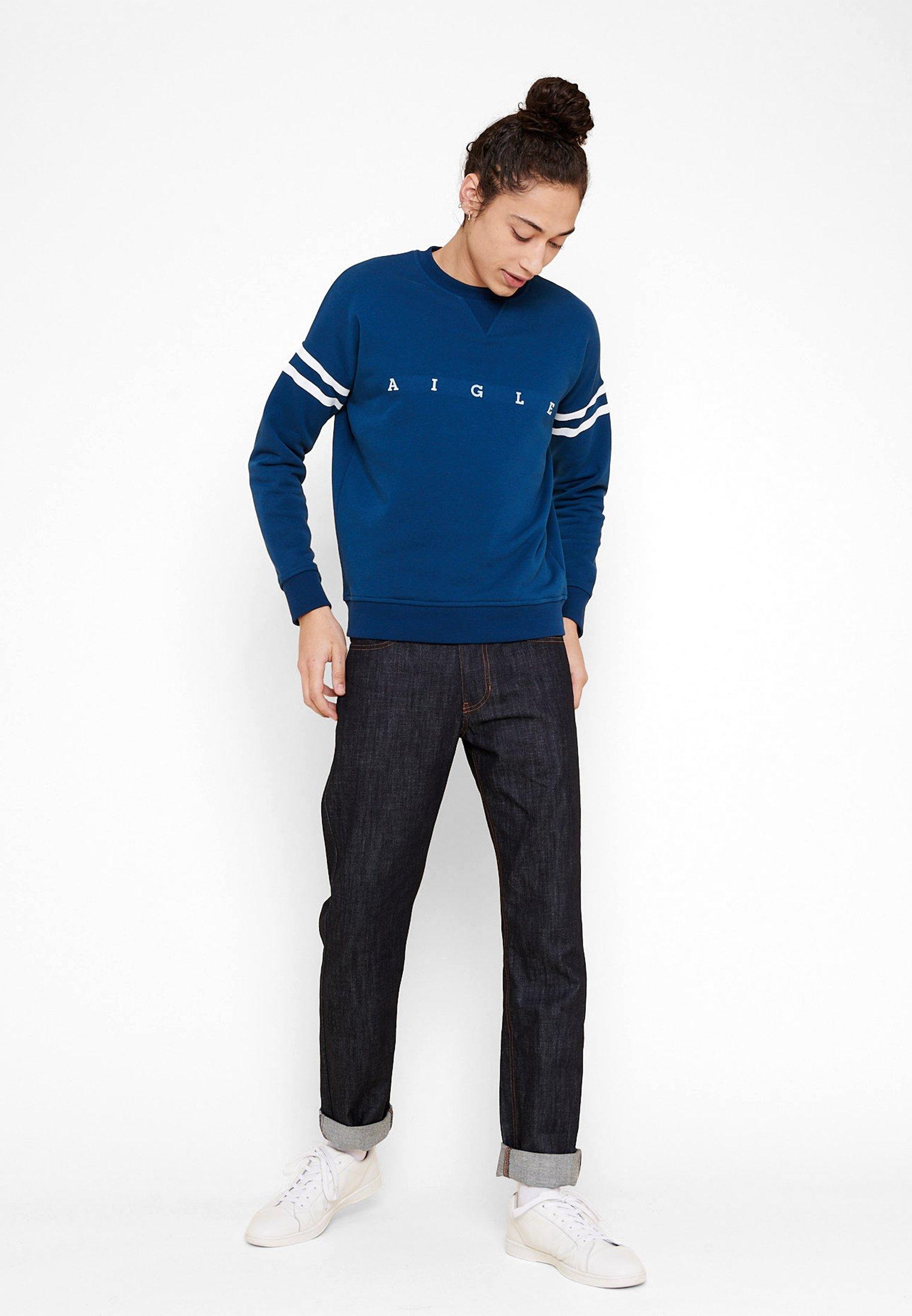 Aigle WANDRI - Sweatshirt - blue/white