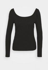 Vila - VILANA SQUARE NECK - Long sleeved top - black - 4