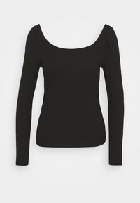 VILANA SQUARE NECK - Long sleeved top - black