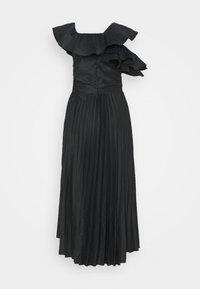 Missguided Tall - ONE SHOULDER PLEATED SKIRT DRESS - Vestido de cóctel - black - 1