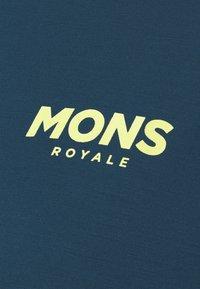 Mons Royale - REDWOOD ENDURO - Triko spotiskem - dark denim/powder pink - 2