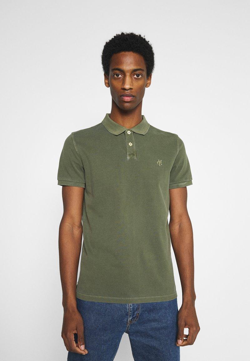 Marc O'Polo - SHORT SLEEVE BUTTON PLACKET - Polo shirt - dried herb