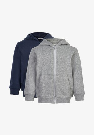 2 PACK - Zip-up sweatshirt - greymelange