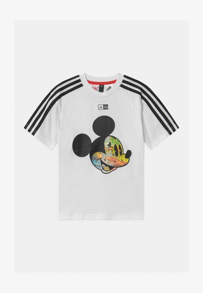 adidas Performance - UNISEX - Print T-shirt - white/black