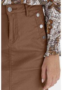 Fransa - FRNOTALIN - A-line skirt - dark camel - 4