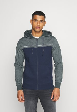 JCOFIRES ZIP HOOD - Zip-up hoodie - darkest spruce/melange
