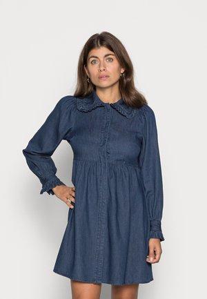 VMNOVA DRESS - Denim dress - dark blue