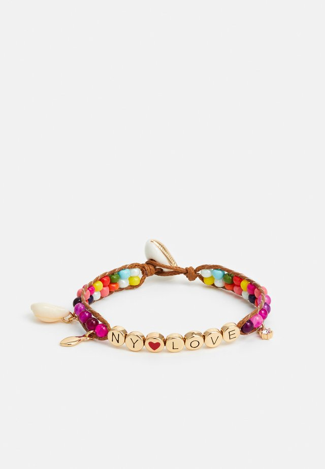 NY LOVE BEADED BRACELET - Pulsera - gold-coloured