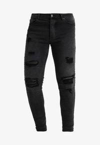 DISTRESSED  - Skinny džíny - dark grey